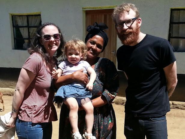 Alex, Trixie, Leticia Tshalana and Andy in Njijini, near Mt. Frere.